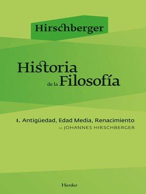 cover image of Historia de la filosofía I