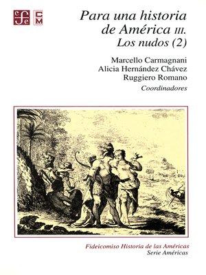 cover image of Para una historia de América, III.
