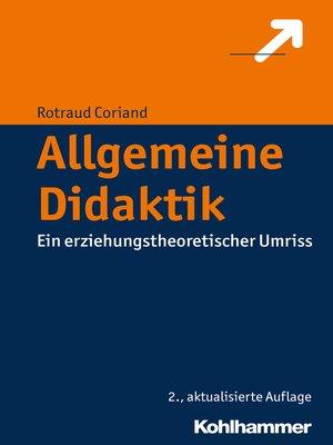 cover image of Allgemeine Didaktik