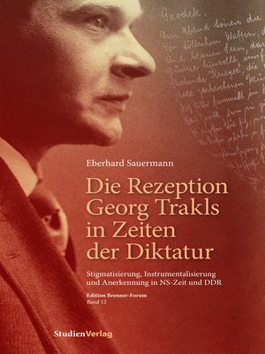 cover image of Die Rezeption Georg Trakls in Zeiten der Diktatur