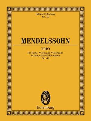 cover image of Piano Trio D minor