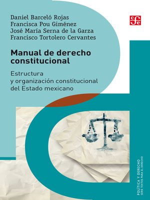 cover image of Manual de derecho constitucional