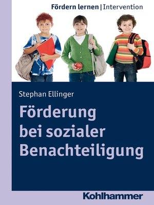 cover image of Förderung bei sozialer Benachteiligung