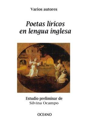 cover image of Poetas líricos en lengua inglesa