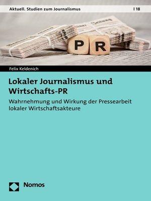 cover image of Lokaler Journalismus und Wirtschafts-PR