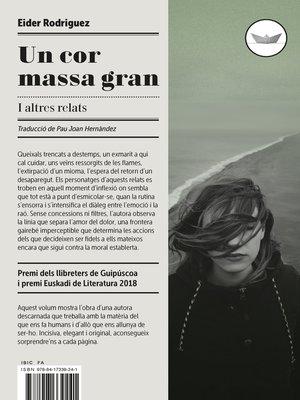 cover image of Un cor massa gran