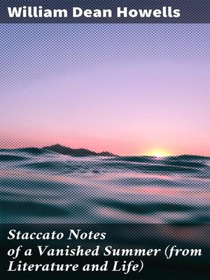 cover image of Staccato Notes of a Vanished Summer (from Literature and Life)