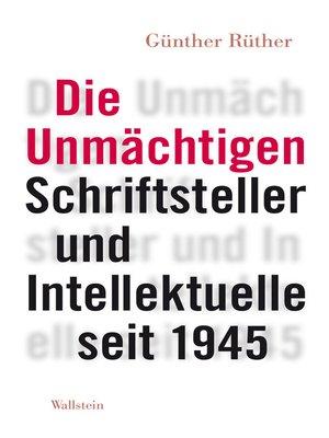 cover image of Die Unmächtigen
