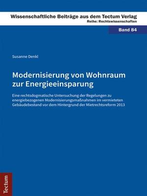 cover image of Modernisierung von Wohnraum zur Energieeinsparung