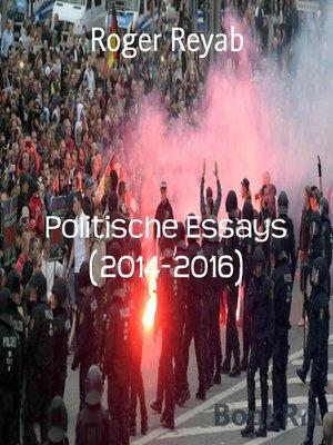cover image of Politische Essays (2014-2016)