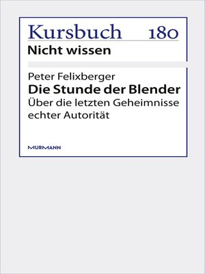 cover image of Die Stunde der Blender