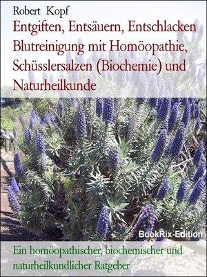 cover image of Entgiften, Entsäuern, Entschlacken Blutreinigung mit Homöopathie, Schüsslersalzen (Biochemie) und Naturheilkunde