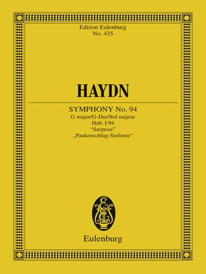 "cover image of Symphony No. 94 G major, ""Surprise"""