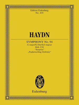 "cover image of Symphony No. 94 G major, ""Surprise"""