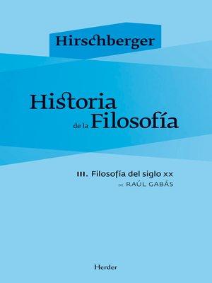 cover image of Historia de la filosofía III