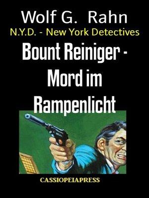 cover image of Bount Reiniger--Mord im Rampenlicht