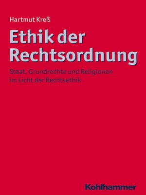 cover image of Ethik der Rechtsordnung