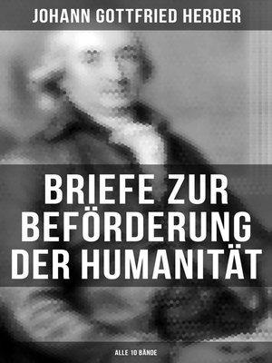 cover image of Briefe zur Beförderung der Humanität (Alle 10 Bände)