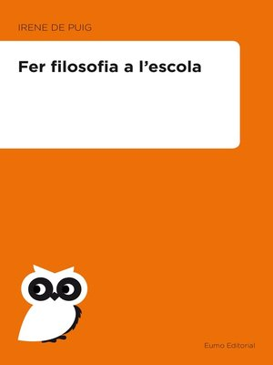 cover image of Fer filosofia a l'escola