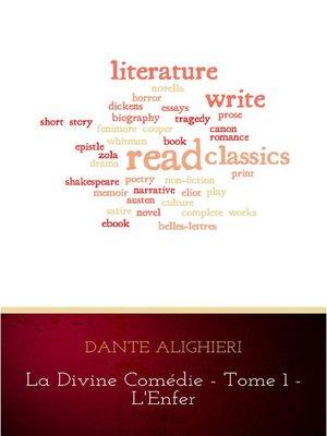 cover image of La divine comédie--Tome 1--L'Enfer