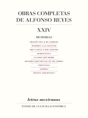 cover image of Obras completas, XXIV