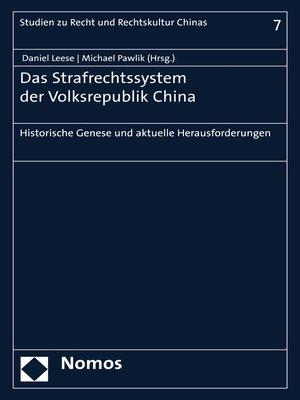 cover image of Das Strafrechtssystem der Volksrepublik China