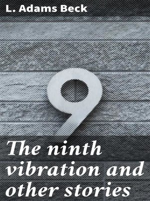 cover image of The ninth vibration and other stories
