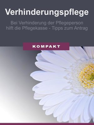 cover image of Verhinderungspflege