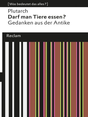 cover image of Darf man Tiere essen?
