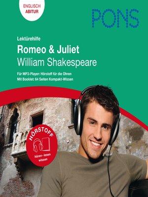 cover image of PONS Lektürehilfe-- William Shakespeare, Romeo & Juliet