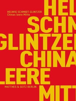 cover image of Chinas leere Mitte