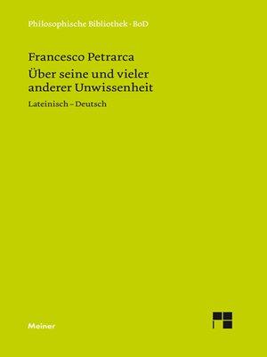 cover image of Über seine und vieler anderer Unwissenheit