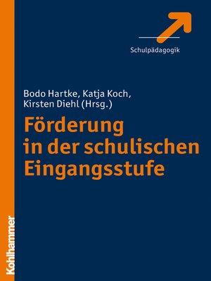 cover image of Förderung in der schulischen Eingangsstufe