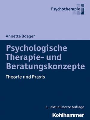 cover image of Psychologische Therapie- und Beratungskonzepte