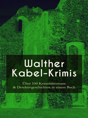 cover image of Walther Kabel-Krimis