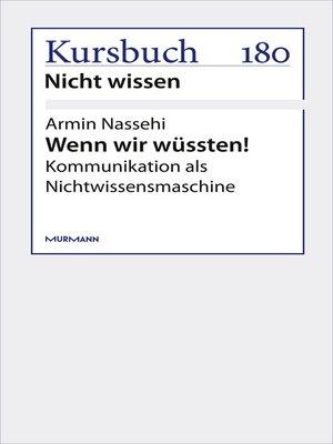 cover image of Wenn wir wüssten!