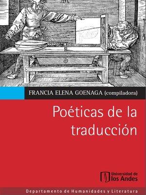 cover image of Poéticas de la traducción