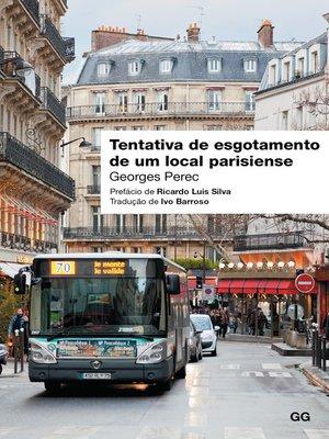 cover image of Tentativa de esgotamento de um local parisiense