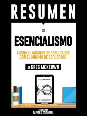 """cover image of Resumen De """"Esencialismo"""