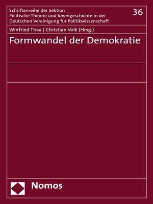 cover image of Formwandel der Demokratie