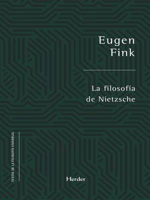 cover image of La filosofía de Nietzsche
