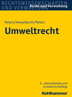 cover image of Umweltrecht