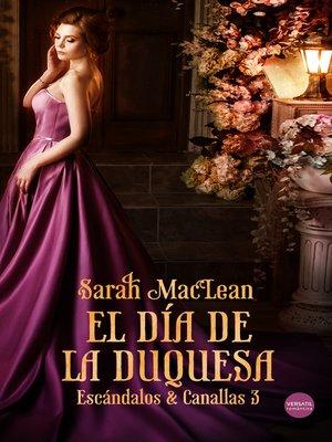 cover image of El día de la duquesa