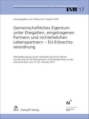 cover image of Gemeinschaftliches Eigentum unter Ehegatten, eingetragenen Partnern und nichtehelichen Lebenspartnern--EU-Erbrechtsverordnung