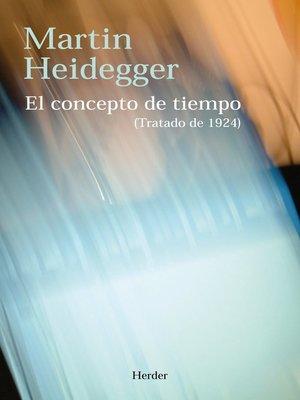 cover image of El concepto de tiempo