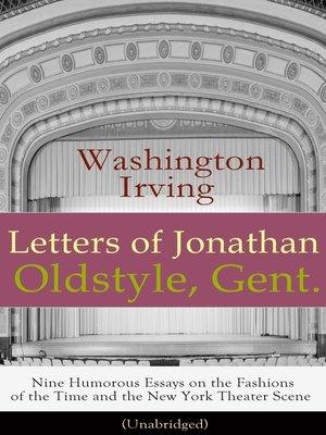 cover image of Letters of Jonathan Oldstyle, Gent.