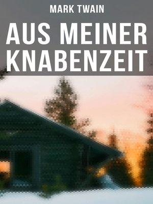 cover image of Aus meiner Knabenzeit