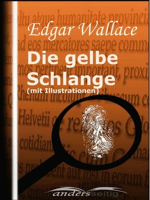 cover image of Die gelbe Schlange (mit Illustrationen)