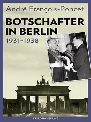 cover image of Botschafter in Berlin 1931–1938