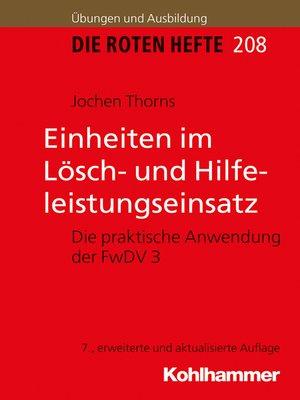cover image of Einheiten im Lösch- und Hilfeleistungseinsatz